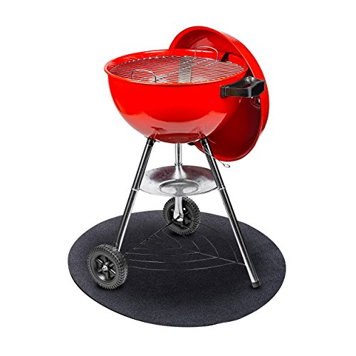 GrillTex Under the Grill Protective Deck and Patio Mat, 27 inch, Round (Grill Charcoal Barbeque)
