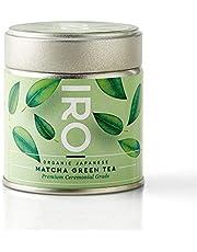 IRO Japanse BIO Matcha thee van superieure kwaliteit, Premium Ceremonial Grade 30g, 100% biologisch, 100% natuurlijk, 100% Japans, Matcha excellence, 1 blik van 30g = 30 kommen Matcha thee