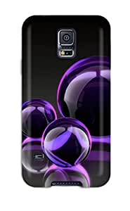 Hot Fashion FFbfbiA1455jMykA Design Case Cover For Galaxy S5 Protective Case (pretty Purple Bubble Cluster )