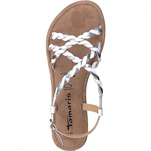 Tamaris 1-28157-30 Sandalias Para Mujer Weiß