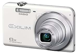 """Casio Exilim EX-ZS20 - Cámara compacta de 16.1 Mp (pantalla de 2.7"""", zoom óptico 6x) color blanco"""