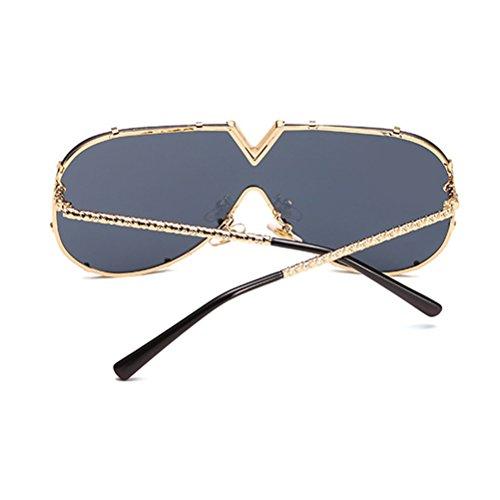 Ladies Zhuhaitf Unisexe Armature et pour Mens Métal Lunettes des Soleil Grand Hommes Carré Femmes Confort en Black de Lunettes Sens Sunglasses Cadre wqqrX78