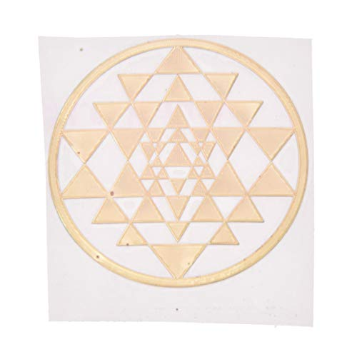 Qlychee Sacred Geometry Copper Orgone Sticker Flower Life Tree DIY Energy Tower Material -