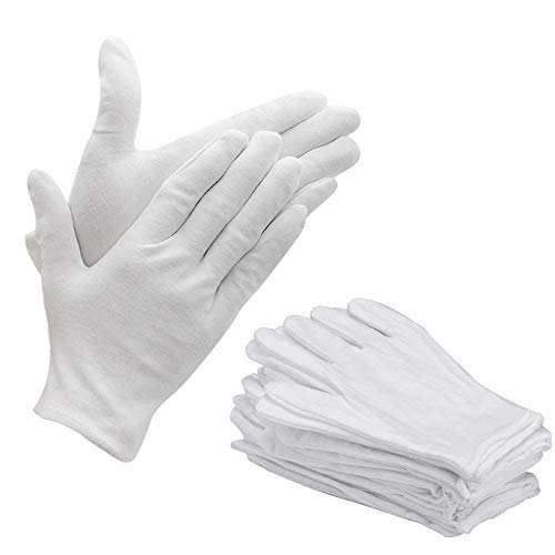 Bestgle White Gloves, 15 Pairs Soft Cotton Stretchable Work Glove for Coin Jewelry Silver Inspection, Doorman, Fire or Police Dress Glove Liner Uniform (Large) by Bestgle (Image #7)