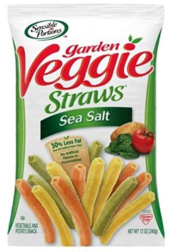 Sensible Portions Garden Veggie Straws, Sea Salt, 12 Oz, Pack of 12 by Sensible Portions