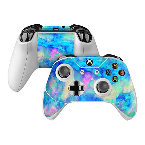 Electrify Ice Blue Skin Decal Compatible with Microsoft Xbox One and One S Controller - Full Cover Wrap for Extra Grip and Protection from DecalGirl