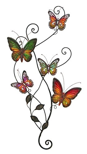 Metal Butterfly Plaque Sculpture eHomeProducts product image