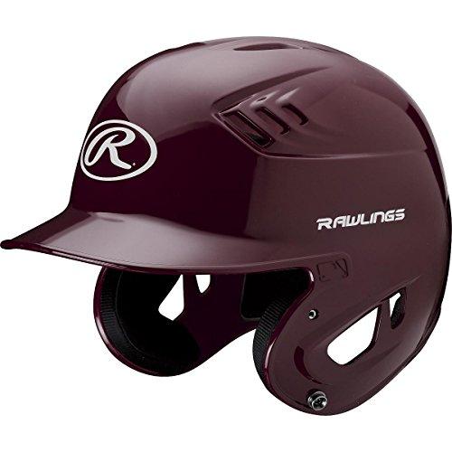 Maroon Baseball Batting Helmet (Rawlings Clear Coat Alpha Sized Batting Helmet, Maroon, Medium)