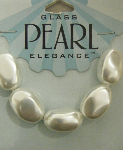 14x20 Curved Oval Pearl White 5 Pieces