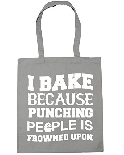 upon Tote Bag punching because Light HippoWarehouse is 42cm Gym Beach bake 10 Grey people frowned litres I Shopping x38cm 8qn074