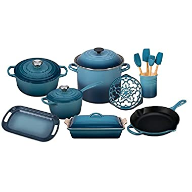 Le Creuset 16-Piece Cook's Essentials Set (Marine)