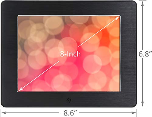 Micca 8-Inch Digital Photo Frame High Resolution LCD, MP3 Music 1080P HD Video Playback, Auto On/Off Timer (Model: N8, Replaces M808z) by Micca (Image #2)
