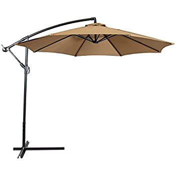 offset patio umbrellas amazon with base 10 foot wide rectangular umbrella solar lights best choice products hanging outdoor market new tan umbrell
