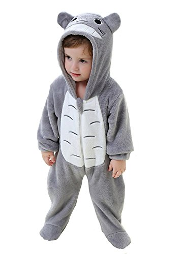 Cute Totoro Costumes (Tonwhar Unisex-baby Cute Animal Costume Cartoon Romper (80(Height:26