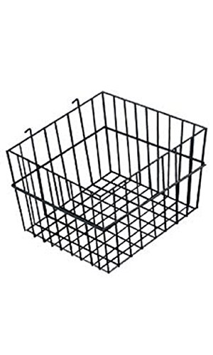 12 x 12 x 8 inch Black Mini Wire Grid Basket for Wire Grid by STORE001