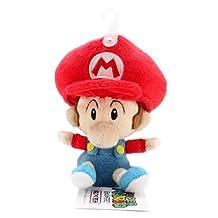 "5"" Official Sanei Baby Mario Soft Stuffed Plush Super Mario Plush Series Plush Doll Japanese Import"