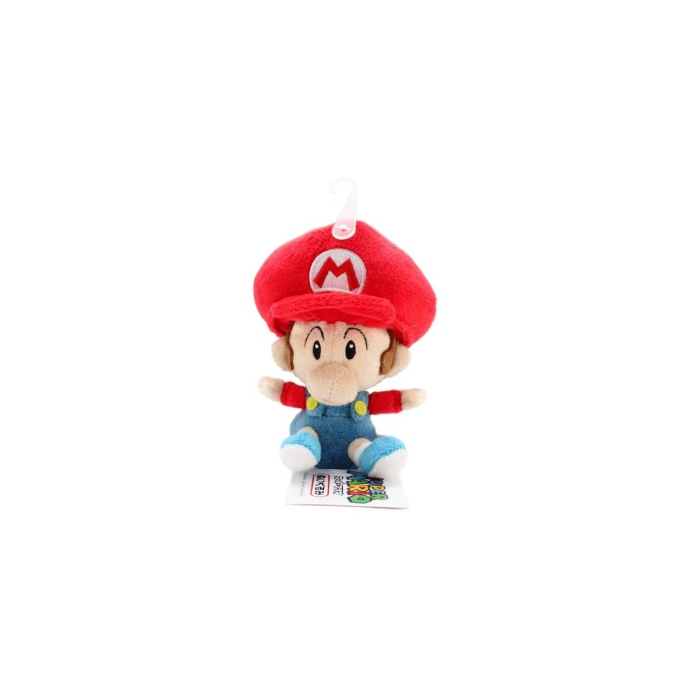 5 Official Sanei Baby Mario Soft Stuffed Plush Super Mario Plush Series Plush Doll Japanese Import