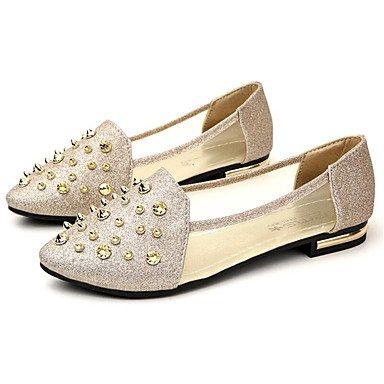RUGAI-UE Moda de Verano Mujer sandalias casuales zapatos de tacones PU Confort,Negro,US5.5 / UE36 / UK3.5 / CN35 Gold