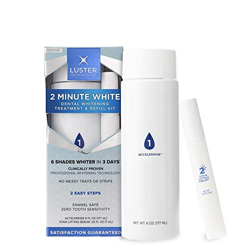 Refill Enamel (Luster Premium White | 2 Minute White Dental Teeth Whitening Kit Treatment and Refill, Enamel Safe and Gentle Whitening, No Sulfates)