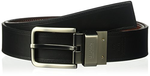 Reversible Belt Satin - Kenneth Cole REACTION Men's Black and Brown Out Leather Reversible Belt Size 36