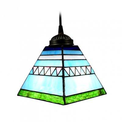 Hua Pyramid Shape Tiffany Mini Pendant Light With Unique