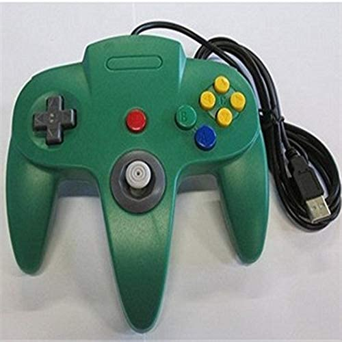 Alician CE N64 USB N64 ABS Gamepad Controller Joystick PC Computer Game Handle red