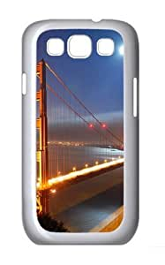 Golden Gate Bridge Moonlight PC Case Cover for Samsung Galaxy S3 and Samsung Galaxy I9300 White