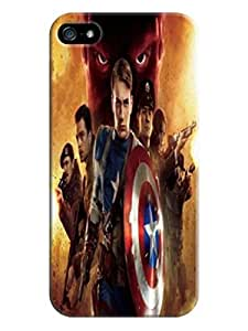 The best quality tpu phone cover case with texture for iPhone5/5s of Avengers Captain America in Fashion E-Mall