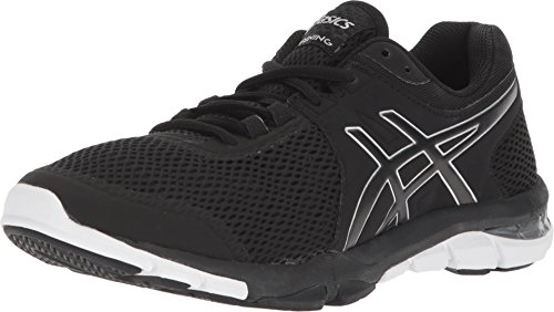 (ASICS S705N Women's Gel-Craze TR 4 Shoe, Black/Silver/White - 8.5)
