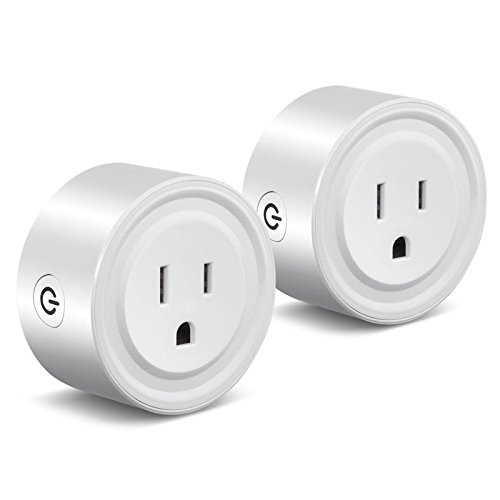 Smart Wifi Plug Outlet Works with Alexa Google Home,i-Mate 2 Packs Mini Smart Wifi Socket Plug Timing Function No Hub Required Control Home Appliances from Anywhere for iOS Android Smartphones Tablets by I-MATE