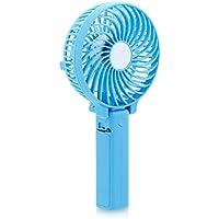 Handheld Mini Fan DOIOWN Foldable Personal Fan Portable Folding Fan Outdoor Fan Desktop Fan(3 Speed,Battery Rechargeable)