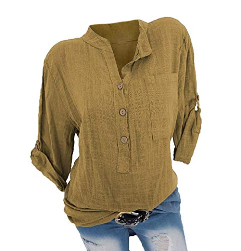 Femme Chemise Blouse Loose Manches Shirt B Dentelle Courtes t Tee Quceyu Chic Tunique jaune Tops Uqd7w7B