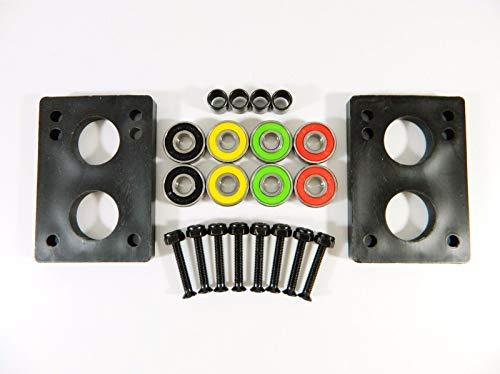(Good Skateboard Rasta ABEC 7 Precision Bearings + 1.25