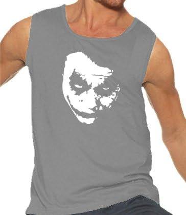 Touchlines Heath Ledger - Joker Tank Top - Camisa de Bolos, Color Gris, Talla M: Amazon.es: Ropa y accesorios