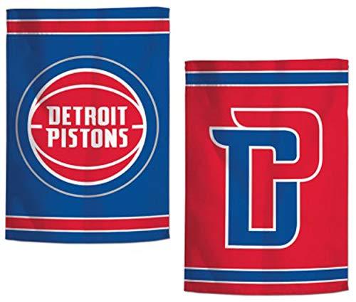 Pistons Detroit Flag - WinCraft NBA Detroit Pistons Garden Flag 12.5 x 18 inches, 2 Sided Print