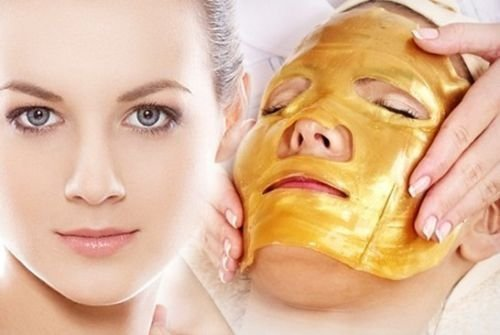 ONE1X 2 Pack Gold Collagen Face Mask - Anti Aging, Wrinkles, Moisturising, Blemishes, Firming, Toning, Dark Circles, Smoothing Skin, Natural Lift