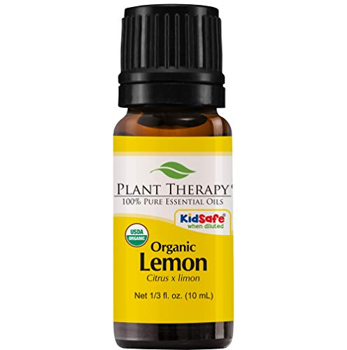 (Plant Therapy Lemon Organic Essential Oil | 100% Pure, USDA Certified Organic, Undiluted, Natural Aromatherapy, Therapeutic Grade | 10 milliliter (1/3 ounce))