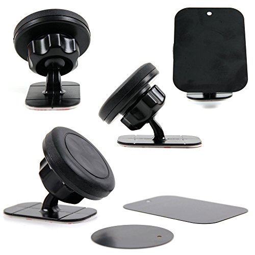 DURAGADGET Exclusive in-Car Dashboard Mount with Fully Adhesive Pad - Compatible with The Archos 50 Cobalt Equipe de France Smartphone ()