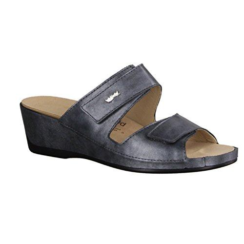 Vital 4116-2190 - Zapatos mujer Zapato abierto / Chanclas de dedo, Gris, legañosos ( cuero )