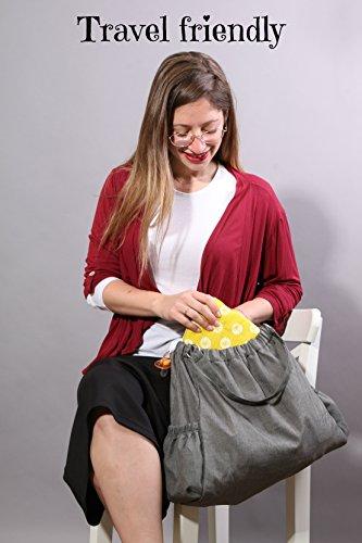 Slip-on Arm Nursing Pillow & Plush w/ Slip-Cover & Carry Bag 8.5 x 7 x 2.75 in by Friendly Deer (Image #3)