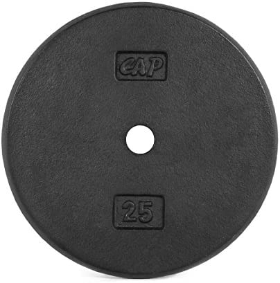 Cap Barbell Standard Weight Plate, 1-Inch, Black