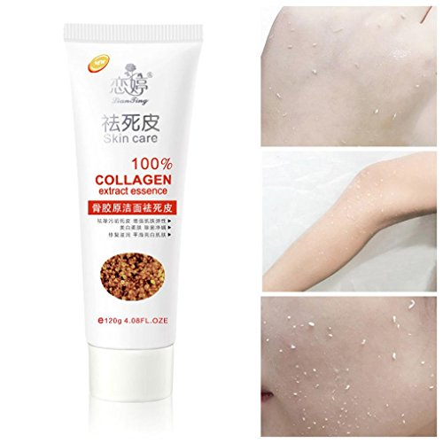 Sinwo Women Exfoliating Cream Skin Collagen Mud Bath Body Get Rid Of Dead Skin Protect Skin (White) ()