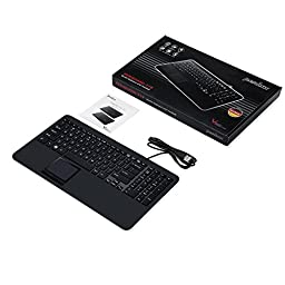 Perixx PERIBOARD-319H US, Backlit USB Keyboard with Touchpad - 14.88\