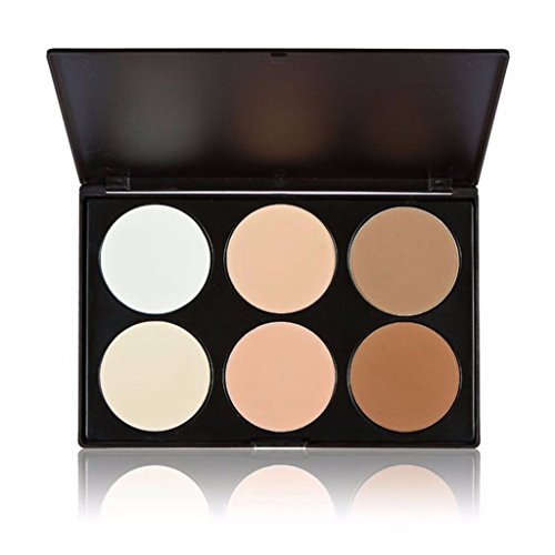[Fantasy Makeup Contour Kit Highlight and Bronzing Powder Palette - 6 Colors] (Special Effects Makeup Kit)