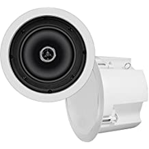 OSD Audio ICE620ST 6.5-Inch 2 Way 8 Ohm/70V Standard In-Ceiling Speaker with backcan (White)