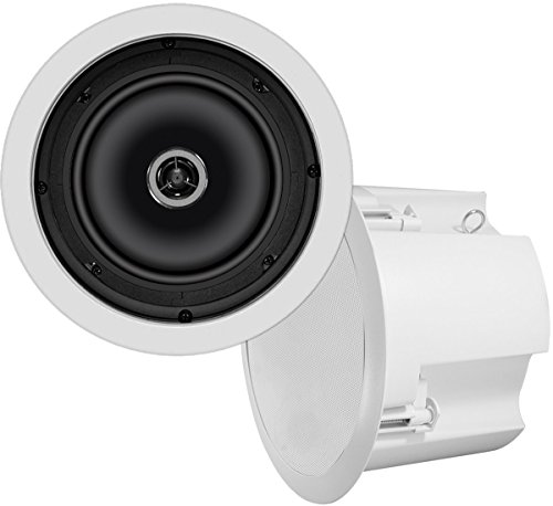 OSD Audio ICE620ST 6.5-inch 70-Volt 100-Watt Polypropylene In-Ceiling Speaker with Backcan