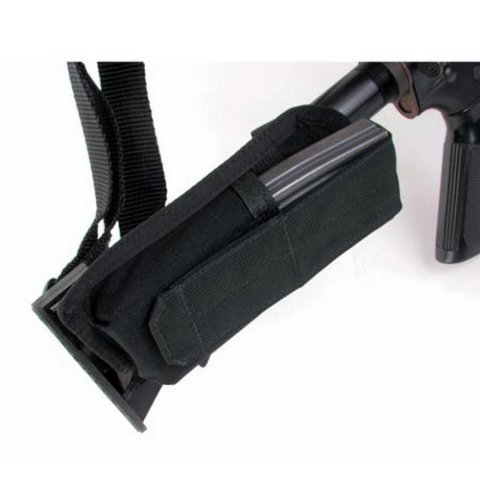 Blackhawk Buttstock Mag Pouch with Adjustable Lid Black 52BS16BK