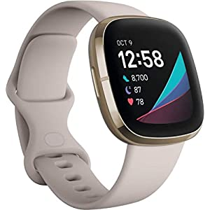 Fitbit Sense Advanced Smartwatch with Tools for Heart Health, Stress Management & Skin Temperature Trends, White/Gold… 7