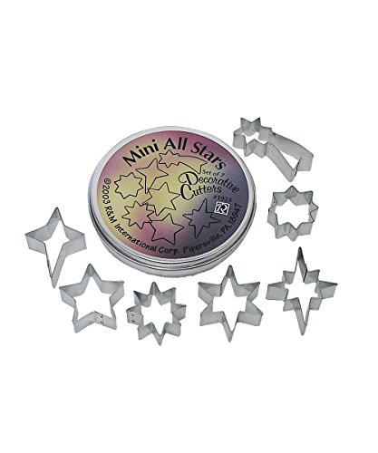 R&M International 1923 Mini All Stars Cookie Cutters, Assorted Designs, 7-Piece Set in Gift Tin Clay Nativity Set