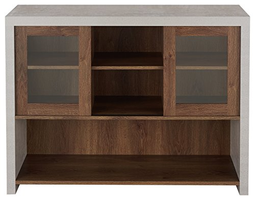 HOMES: Inside + Out FGI-17900C21 Chiron Industrial Console/Hallway Table, Distressed Walnut/Cement Review
